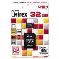 Карта памяти «Mirex» microSDHC UHS-I (Class 10) 32GB + адаптер (13613-ADSUHS32).