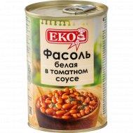 Фасоль белая в томатном соусе консервированная «ЕКО» 400 г.