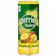 Напиток безалкогольный «Perrier» ананас- манго, 0.25 мл.