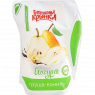 Йогурт «Бабушкина крынка» с наполнителем груша-ваниль, 2.8%, 200 г.