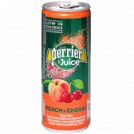 Напиток «Perrier&Juice» персик-вишня, 0.25 л.