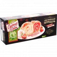 Пирог «Австрийский штрудель» со вкусами клубника и пломбир, 400 г.