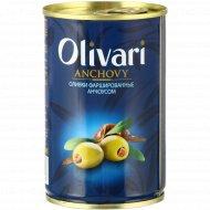 Оливки «Olivari» фаршированные анчоусами, 300 г.