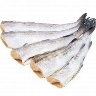 Рыба «Минтай» без головы, свежемороженая, 1 кг., фасовка 1.3-1.5 кг