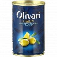 Оливки «Olivari» фаршированные лимоном, 300 г.