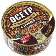 Консервы рыбные «EcoFood» осетр с гречкой в оливковом масле, 290 г.
