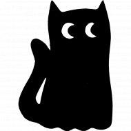 Магнитная грифельная доска «Кот» на холодильник, 15x21x0.07 см.