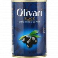 Оливки черные «Olivari» с косточкой, 300 г.
