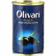 Оливки черные «Olivari» без косточки, 300 г.