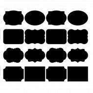Набор меловых наклеек на банки «Grifeldecor» 16 шт.