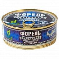 Консервы рыбные «EcoFood» форель радужная в собственном соку, 240 г.