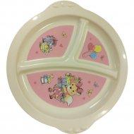 Тарелка «Пластишка» детская трехсекционная с декором.