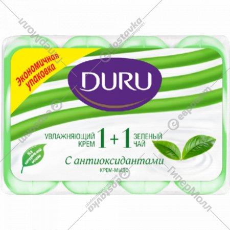 Мыло «Duru 1+1» экстракт зеленого чая и крем, 4х90 г