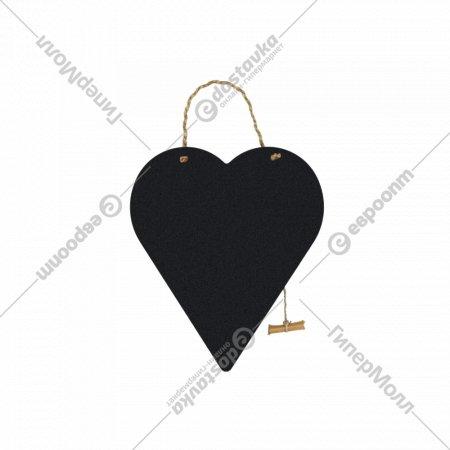 Меловая грифельная доска «Сердце» 29x40x0.3 см.