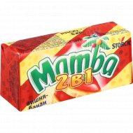 Жевательные конфеты «Mamba 2 в 1» со вкусом вишни и банана, 26.5 г.