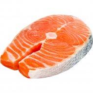 Стейк лосось, охлажденный, 1 кг, фасовка 0.25-0.6 кг