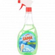 Средство для мытья стекол «Sama» яблоко с тригером, 500 мл.