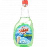 Средство для мытья стекол «Sama» яблоко, сменный блок, 500 мл.