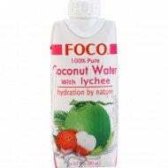 Кокосовая вода с соком личи «Foco» обогащенная витамином С, 330 мл.