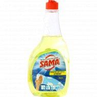 Средство для мытья стекол «Sama» лимон, сменный блок, 500 мл.