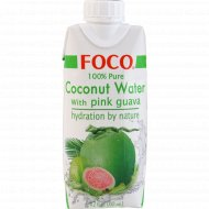 Кокосовая вода с розовой гуавой «Foco» с витамином С, 330 мл.