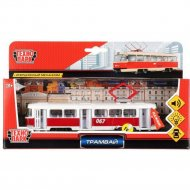 Игрушечный транспорт «Трамвай» CT12-463-2-OR-WB