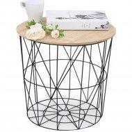Журнальный столик «Halmar» Mariffa, натуральный/черный