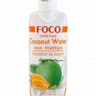 Кокосовая вода с манго «Foco» обогащенная витамином С, 330 мл.