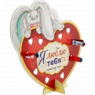 Открытка «Я люблю тебя» со свитками, 18.8х18 см, 10991248.