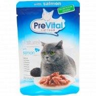 Корм для кошек «PreVital Naturel» с лососем в соусе, 85 г.