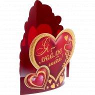 Открытка-валентинка картонная «Я люблю тебя» 14х16 см, 10993234.