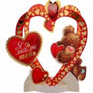 Открытка-валентинка картонная «Я люблю тебя» 17х17 см, 11015794.