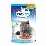 Корм для кошек «PreVital Naturel» с тунцом в желе, 85 г.