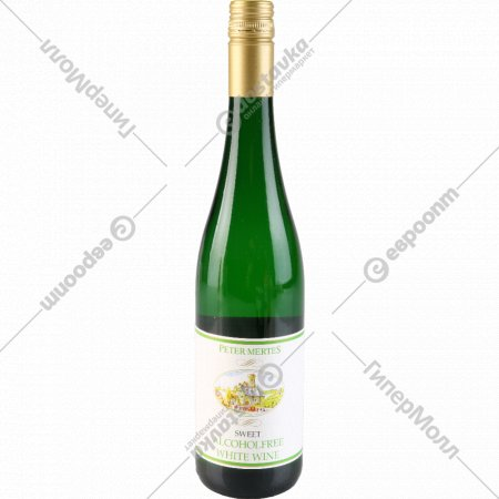 Вино безалкогольное «Петер Мертес» белое сладкое, 0.75 л.