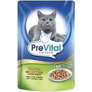 Корм «PreVital» для cтерилизованных кошек с печенью в соусе, 100 г