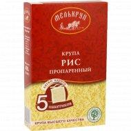 Крупа рисовая «Мелькруп» обработанная паром, 5 пакетиков х 80 г.