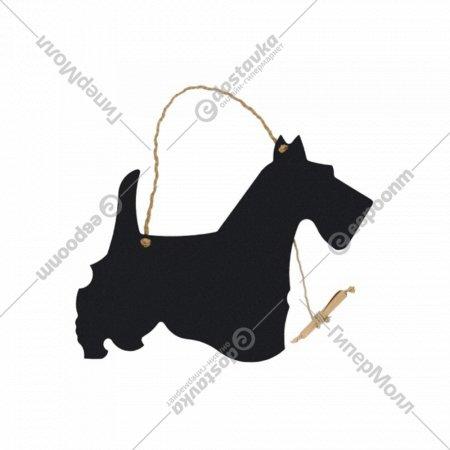Меловая грифельная доска «Собачка» 38x29x0.3 см.