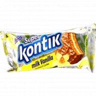 Печенье-сэндвич «Супер Контик» ванильно-молочное, 100 г.