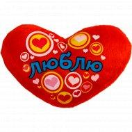 Фигурка текстильная на магните «Сердце. Люблю» 10799515, 9х10.5 см.