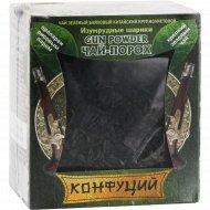 Чай зеленый листовой «Конфуций» «Изумрудные шарики – Ган Паудер» 90 г.