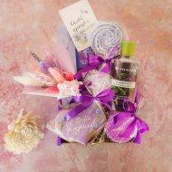 Подарочный набор «So cute box» Лавандовый ко Дню Рождения, средний