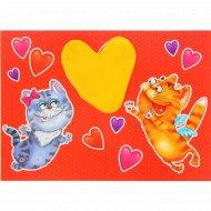 Открытка бумажная «Дарю тебе свою любовь» 11006177, 13x18 см.