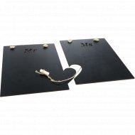Меловая грифельная доска «Mr and Ms» 41x28x0.3 см.