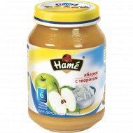 Фруктовое пюре «Hame» яблоко c творогом 190 г.