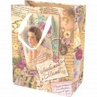 Пакет для подарков бумажный «Любимой маме» 12х15х5.5 см, 10320899.