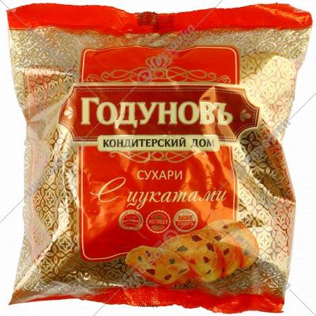 Сухари «Годуновъ» с цукатами, 250 г.