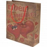 Пакет для подарков «Моей половинке» 10996698, 23x27x8 см.