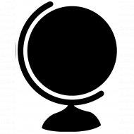 Меловая наклейка «Глобус».