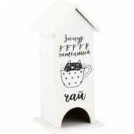Чайный домик «Котенок» 12x12x27 см.