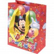 Пакет для подарков «С Днем Рождения» 10965593, 12x15x6 см.